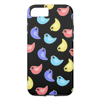 Fun bright colorful birds pattern iPhone case