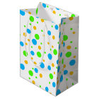 Fun Bright Dots Medium Gift Bag