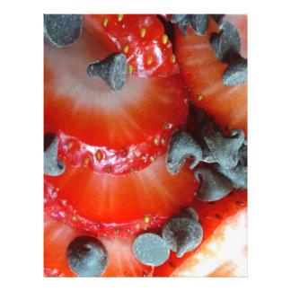 Fun bright strawberry and chocolate chip custom letterhead