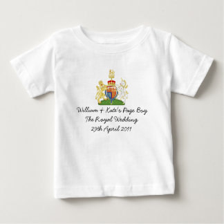 "Fun British Royal Wedding ""Page Boy"" souvenir top"
