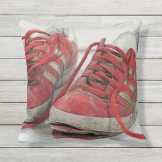 Fun Broken Shoes Outdoor Throw Pillow! Throw Pillow