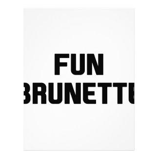 Fun Brunette Letterhead