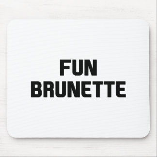 Fun Brunette Mouse Pad