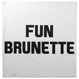 Fun Brunette Napkin