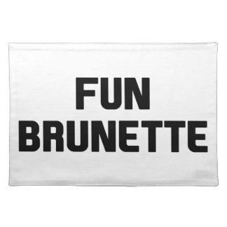 Fun Brunette Placemat