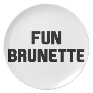 Fun Brunette Plate