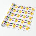 Fun Bunco Chick Art Wrapping Paper