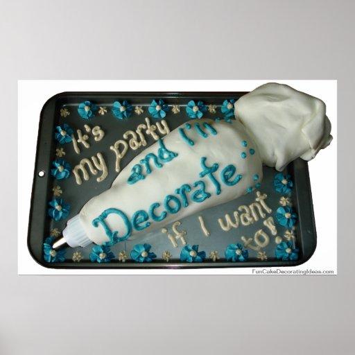 Fun Cake Decorating Ideas - Icing Bag Art Posters Zazzle