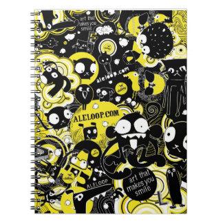 Fun Cartoon Art Notebook