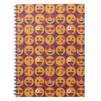 Fun Cartoon Emoji Pattern Notebook
