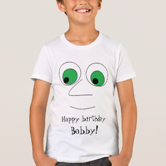 Fun Cartoon Face Design Personalized Birthday T-Shirt
