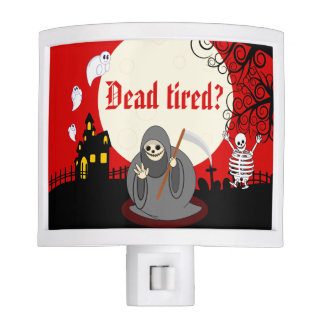 Fun cartoon full moon Halloween Death scene, Night Lights