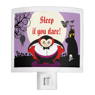 Fun cartoon Halloween vampire Dracula scene, Nite Lite