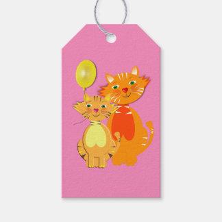 Fun Cartoon Kitty Cats Adorable Birthday Gift Tags