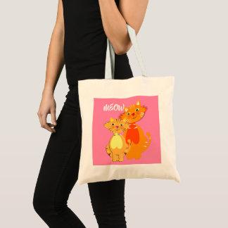 Fun Cartoon Kitty Cats Adorable Birthday Tote Bag