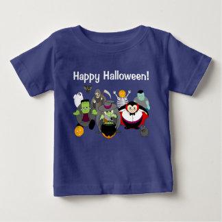 Fun cartoon of a group of Halloween monsters, Baby T-Shirt