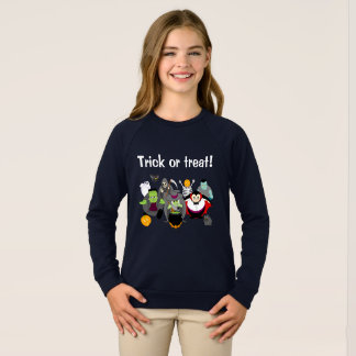Fun cartoon of a group of Halloween monsters, Sweatshirt