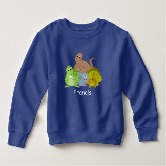 Fun cartoon of a group of Jurassic dinosaurs, Sweatshirt
