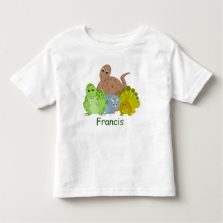Fun cartoon of a group of Jurassic dinosaurs, Toddler T-shirt