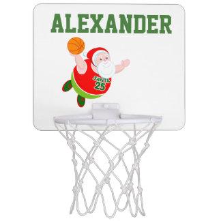 Fun cartoon of Santa Claus dunking a basketball, Mini Basketball Hoop