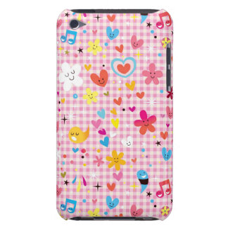 fun cartoon pattern pink iPod touch covers