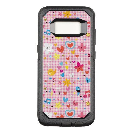 fun cartoon pattern pink OtterBox commuter samsung galaxy s8 case