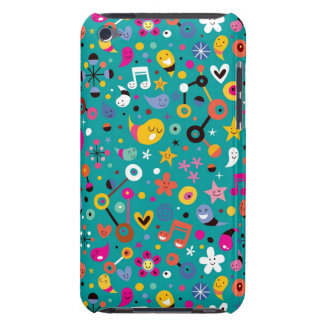 fun cartoon pattern teal barely there iPod cover