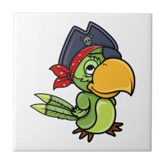 Fun Cartoon Pirate Parrot Tile