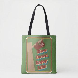 Fun Cartoon Sloth Tote Bag