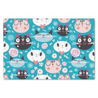 Fun Cat Faces Tissue Paper