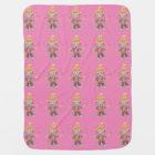 Fun cat mariachi musician pink baby blanket