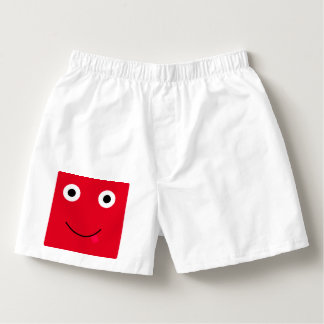 Fun Character Shorts For Men: Red Boxers