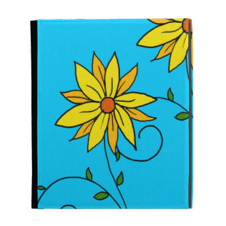Fun Cheerful Yellow Flowers Doodle Art iPad Cases