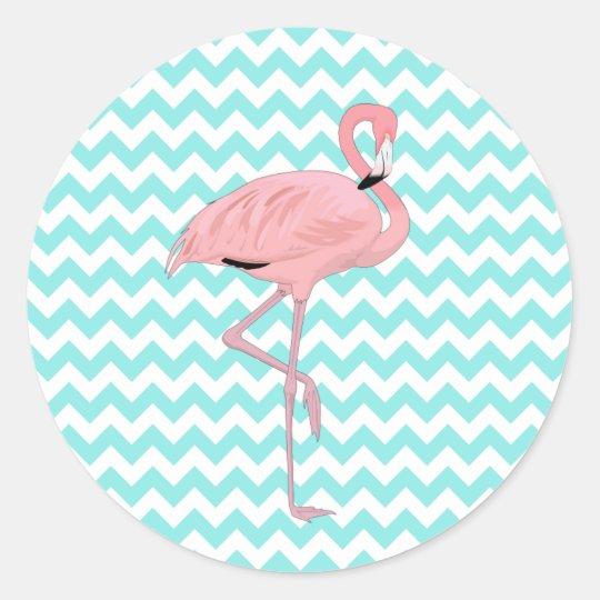 Fun Chevron & Flamingo Stickers