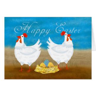 Fun Chicken Easter Greeting Card