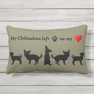 Fun Chihuahua Dog  Pet Quote Lumbar Pillow