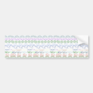Fun childlike drawings of peace,love,nature,bliss car bumper sticker
