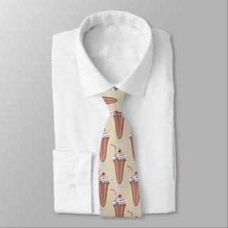 Fun Chocolate milkshake pattern tiled tie