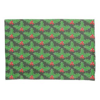 Fun Chrismas holly leaf pattern custom pillow case