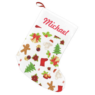 Fun Christmas Pattern Small Christmas Stocking