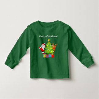 Fun Christmas tree with Santa Claus and Rudolph, Toddler T-shirt