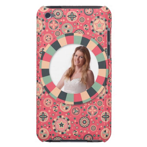 Fun Circle frame - vintage candy - pattern iPod Touch Case