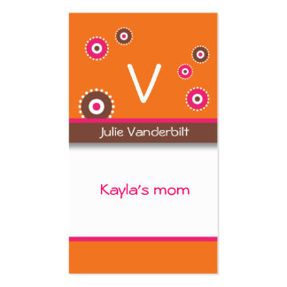 Fun circles Mommy Card Business Cards