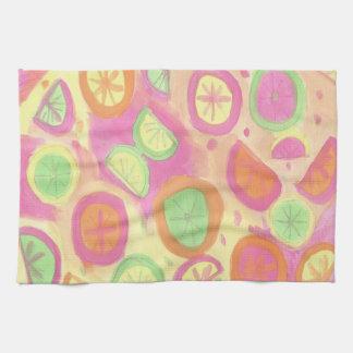 Fun Citrus Print Kitchen Towel