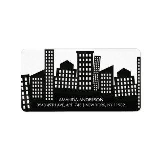 Fun City Return Address Label