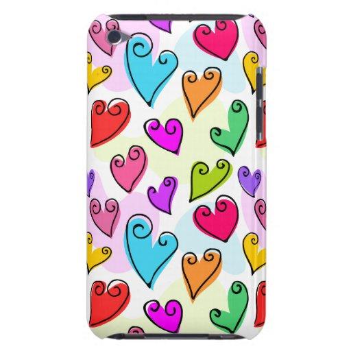 Fun  Color Valentine's hearts iPod Touch Case-Mate