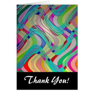 Fun Colorful Abstract Art Design Card