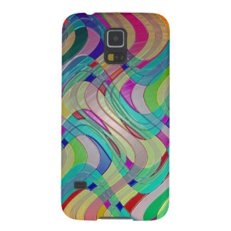 Fun Colorful Abstract Art Design Galaxy S5 Cover