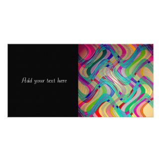 Fun Colorful Abstract Art Design Photo Card