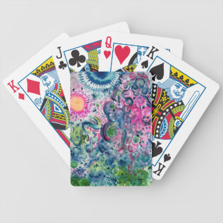 fun colorful abstract design bicycle playing cards